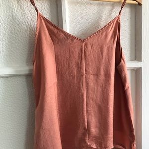 Beautiful delicate silky peach top